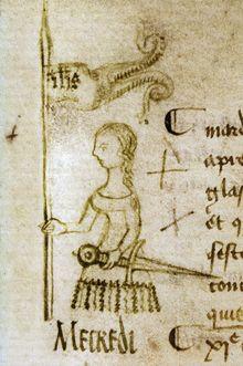 Jeanne d'Arc (1429), dessin de Clément de Fauquembergue