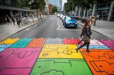 Colourful crossing
