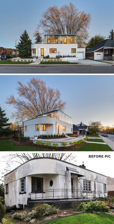 "contemporist: "" This 1930s Streamline Moderne House Got A Contemporary Renovation And Addition """