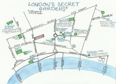 map - hidden green spaces in central london