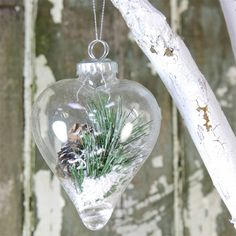 winter pine heart bauble by lisa angel homeware and gifts | notonthehighstreet.com