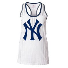 dce992a8d4f1ab Women s New York Yankees 5th   Ocean by New Era White Opening Night  Pinstripe Tank Top