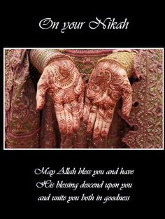 Nikah Hands Projects To Try, Blessed, Greeting Cards, Hands