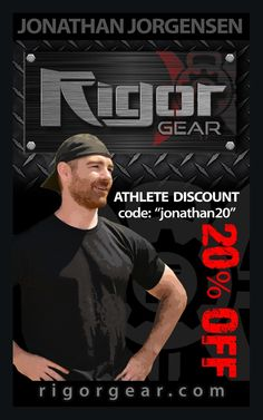 New holiday promo code from Jonathan Jorgensen to get your Rigor Gear in for the holidays.