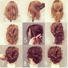 Идея повседневной прически для средних волос! Берите на заметку!✏