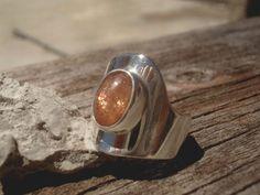 Sunstone sterling silver ring sterling by SILVERSTONEbyRenata