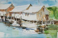 painting lesson - AvonNC  Steve Fleming