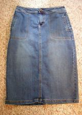 Yom Yom ladies 12 straight modest church work long western denim skirt