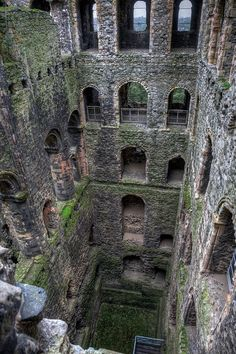 The eerie interior depths of Rochester Castle, Kent, England.