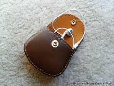 handmade hand stitched cowhide leather coin purse