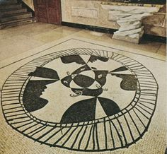 Mosaic stone floor by Pablo Picasso, 1927 Peter Wilson's home in the south of France.