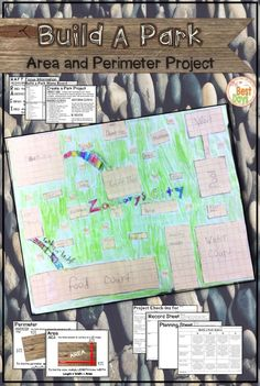 Are you looking for a great project to assess student mastery of area and perimeter using the formulas and still having fun? This project will do just that! Students plan, calculate, create and present a park of their choice to prove their mastery! Math Stations, Math Centers, Area And Perimeter, Math Measurement, Math Groups, Math Projects, Elementary Math, Upper Elementary, Project Based Learning