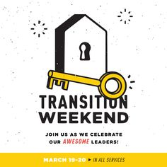 Join us for Transition Weekend March 19th and 20th to celebrate our pastors!