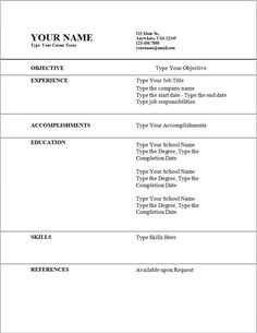 blank resume templates free download blank resume template pinterest resume templates free download and resume template free - Acting Resume Template Download