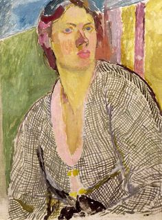 Vanessa Bell -  Self-Portrait, circa 1915. Collection of Yale Center for British Art
