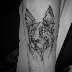 #dog #polishtattoo #brazil #belohorizonte #sketch #sketchtattoo #tattoo #tattoos #sleeve #sleevetattoo #blackworkers #blackwork #arm