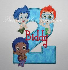 Bubble Guppies Birthday Boy's T-shirt or by Presleeschicboutique