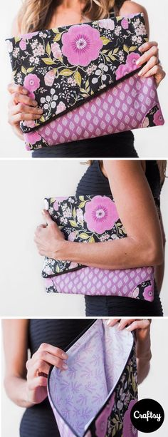 Sophisticated florals are a perfect companion when you're out on the town. Check out our new Girls Night Out Foldover Clutch kit. Complete with pattern and fabric, you'll be showing off your new bag in no time!