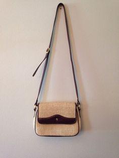 Vintage 70s Etienne Aigner Oxblood Leather Basket Weave Hand Bag 3573d39673071
