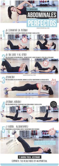 weight loss nutrition health tips health and fitness gym workout Rutina para unos abdominales perfectos Fitness Workouts, Gewichtsverlust Motivation, Sport Fitness, Fitness Routines, Ab Workouts, Body Fitness, Workout Videos, Pilates Workout, Health Fitness