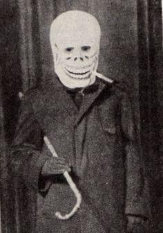 Georg Grosz dressed as Dada Death. (Berlin, c.1918)