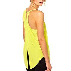 Women Dovetail Yellow Chiffon Tank Top (XS) HP-LEISURE http://www.amazon.com/dp/B00N0R0JE2/ref=cm_sw_r_pi_dp_jbMPvb1SF7QM2