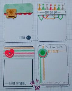 DIY project life card series paper clips group with Stampin'Up! material. more to see on www.chicstamping.com, have fun!