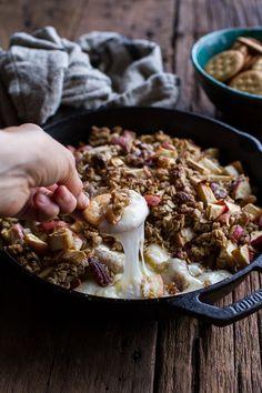 Apple Crisp Baked Brie   halfbakedharvest.com @hbharvest