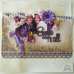 Couture Creations: The Smile says it all by Kerrie Gurney | #couturecreationsaus #scrapbooking #decorativedies #heartease