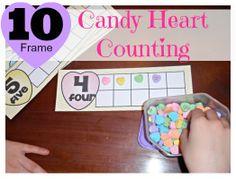 Candy Heart 10 Frames