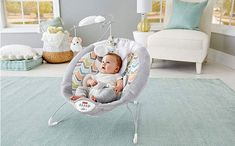 Fisher-Price My Little Snugapuppy Deluxe Bouncer - Give your little one (and your arms!) a break with this super comfy baby bouncer. A deep seat with super soft fabrics, plush newborn insert and supportive head rest help keep little ones cozy as they . Best Baby Bouncer, Baby Rocker, Baby Equipment, Bouncers, Soft And Gentle, Baby Skin, Seat Pads, Baby Dogs, Baby Baby