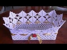 A piece woven crochet. No pattern just inspiration Shucks and golly ~!~ So pretty. must make a pattern. Crochet Bowl, Thread Crochet, Filet Crochet, Crochet Motif, Crochet Designs, Crochet Doilies, Crochet Yarn, Crochet Flowers, Crochet Applique Patterns Free