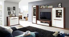 """Programul pentru living """"Avrille"""" este modern și elegant, oferă numeroase spații pentru depozitare și poate fi configurat astfel încât să se încadreze cât mai bine în cameră"""