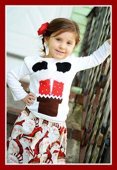 Santa Applique Shirt Christmas In July, Christmas Shirts, Kids Christmas, Sewing For Kids, Sewing Ideas, Sewing Patterns, Pink Carpet, Xmas Ideas, Applique Designs