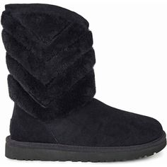 UGG Women's Tania Black Boots ($175) ❤ liked on Polyvore featuring shoes, boots, ankle boots, black, black ankle boots, black bootie, black boots, light weight boots and bootie shoes