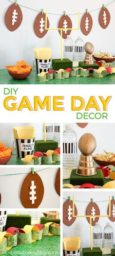 Oh So Lovely Blog: DIY // SUPER BOWL PARTY DECOR