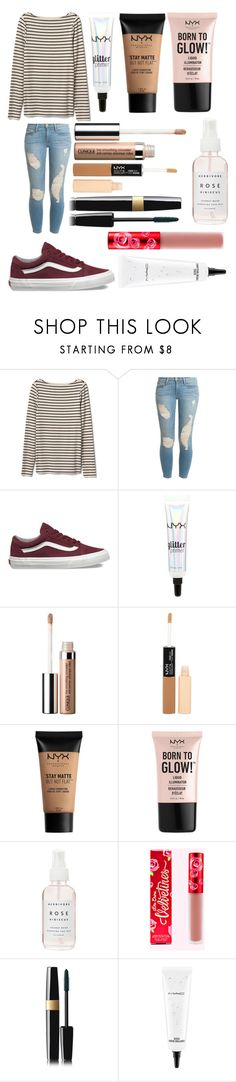 """""""Untitled #442"""" by kendall-starwars ❤ liked on Polyvore featuring Gap, Frame, Vans, NYX, Clinique, Charlotte Russe, Herbivore, Chanel and MAC Cosmetics"""