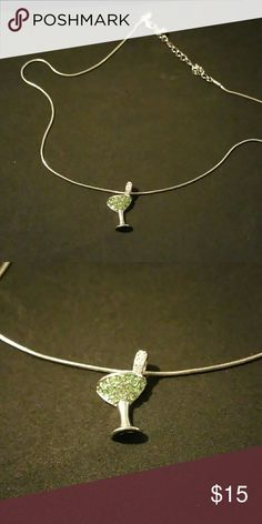 Lia Sophia Martini Glass Necklace Lia Sophia martini glass necklace worn very few times but still in really good shape. Please help my mom get rid of her Lia Sophia jewelry. She has too much of it that she has no use for. Accepting reasonable offers! Lia Sophia Jewelry Necklaces