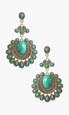 Bejeweled Teardrop Burst Drops Earrings