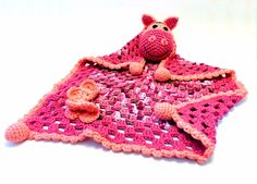 horgolt ló alvóka babáknak / crochet horse security blanket for babies
