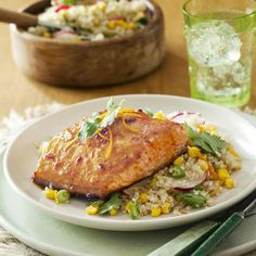 Salmon is delicious and it SHOULD be added to a diet. Yummy salmon recipe
