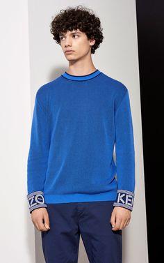 KENZO Ribbed Sweater, PERRIWINKLE, KENZO