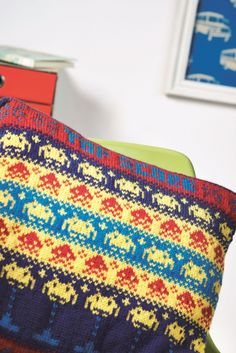 Retro arcade games pillow #FreePattern
