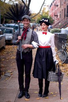 Bert the chimney sweep and Mary Poppins Halloween costumes