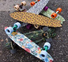 Globe Bantam ST Skateboards omg l0ve the cheetah and zebra print one
