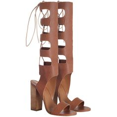 Zimmermann Lace Up Gladiator Heel ($550) ❤ liked on Polyvore featuring shoes, sandals, heels, boots, swim shoes, lace-up heel sandals, swim sandals, laced shoes and summer sandals