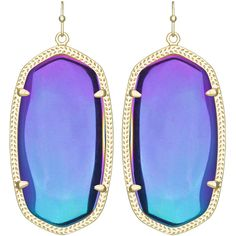 Kendra Scott Danielle Black Iridescent Earrings found on Polyvore