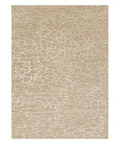 Look at this #zulilyfind! Taupe & Ivory Geode Wool-Silk Rug #zulilyfinds