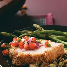 Almond-Crusted Pork Loin ...my momma made this a couple years ago and its is awesome!