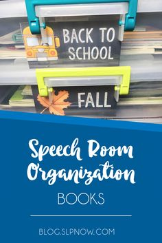 Looking for an easy way to organize your speech therapy books? Click to read three quick tips to organize your books and reduce your speech room clutter!